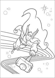 Disegni da colorare Thor 15