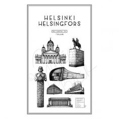 Helsinki by Julia Bäck Helsinki, Bookends, Gallery Wall, Posters, Illustrations, Cards, Home Decor, Interiors, Poster