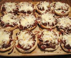 "pizza burgers, like we use to have ""back in the day"" at school :)"