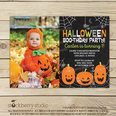 Halloween 1st Birthday Invitation - Halloween Invites - Halloween Invitation - Halloween Party Invitations - Halloween Birthday Invites by stockberrystudio on Etsy https://www.etsy.com/uk/listing/249469657/halloween-1st-birthday-invitation