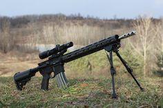 ar 15 sniper rifle   Built AR-15 sniper rifle sniper rifle optics bipod military gun weapon ...