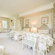Master Bedroom Headboard - refinish like this example - Bowood Chintz – and The Glam Pad – in Vogue!