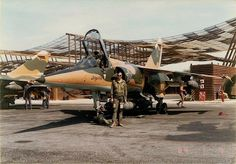 Multi-purpose fighter Dassault Mirage F1 of the air force of South Africa while participating in the South African border war (the War for the independence of Namibia)