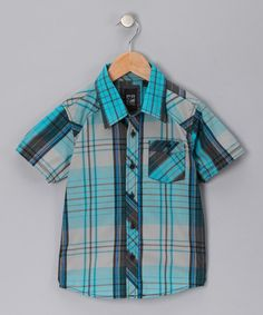 Take a look at this Light Gray Chase Button-Up - Boys by Micros on #zulily today!