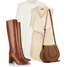 Cute & Casual in a Dress and Boots by bliznec on Polyvore featuring мода, Chloé, WearAll, Tory Burch, women's clothing, women's fashion, women, female, woman and misses