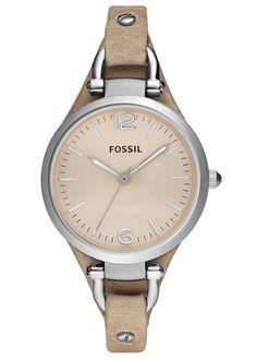 Fossil Georgia Three Hand Leather Watch – Sand