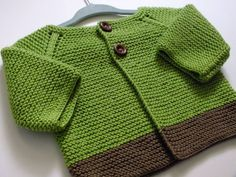 Knit Baby Boy Green Sweater/Knit Baby Girl by sulemshiningblankets