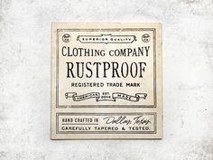 Rustproof Tag by Steve Wolf