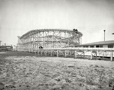 (c. 1905) Roller coaster at Paragon Park - Nantasket Beach, Massachusetts
