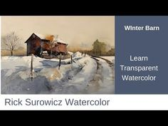 """This is the companion video to my narrated step by step tutorial for my painting """"Winter Barn"""". It is a demonstration set to music at speed. Watercolor Barns, Watercolor Video, Watercolour Tutorials, Watercolor Artwork, Watercolor Techniques, Oil Painting Abstract, Drawing Techniques, Painting Tutorials, Paint Techniques"""