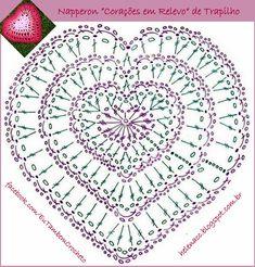 Bilderesultat for crochet chart Crochet Wool, Crochet Chart, Crochet Gifts, Crochet Motif, Crochet Doilies, Granny Square Crochet Pattern, Crochet Flower Patterns, Crochet Stitches Patterns, Crochet Designs