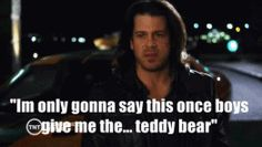 """""""Im only gonna say this once boys give me the… teddy bear"""" Eliot spencer#leverage"""