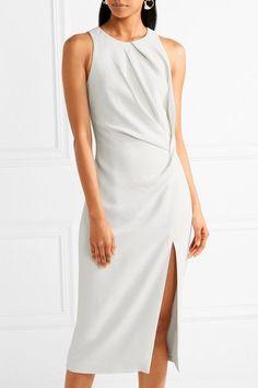 Cushnie et Ochs | Gathered stretch-cady midi dress | NET-A-PORTER.COM