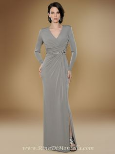 Mother of the bride dress by Rina Di Montella, style 1710 (TAUPE)