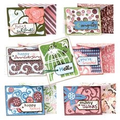 A2 Cards for All Occasions SVG Kit [] : SVG Files for Silhouette, Sizzix, Sure Cuts A Lot and Make-The-Cut - SVGCuts.com