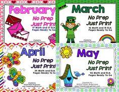 BUNDLED MONTH BY MONTH NO PREP JUST PRINT - TeachersPayTeachers.com