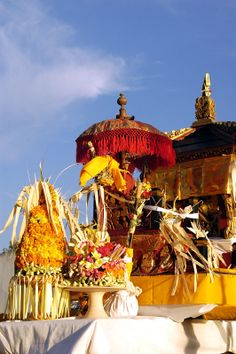 Balinese Altar during ceremony