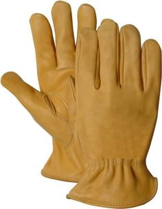 Majestic 1510G Gold Cowhide Leather Driver Gloves (DOZEN)