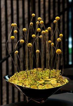 Next image >> Home Flower Arrangements, Ikebana Flower Arrangement, Ikebana Arrangements, Deco Floral, Arte Floral, Floral Design, Arreglos Ikebana, Hotel Flowers, Yule