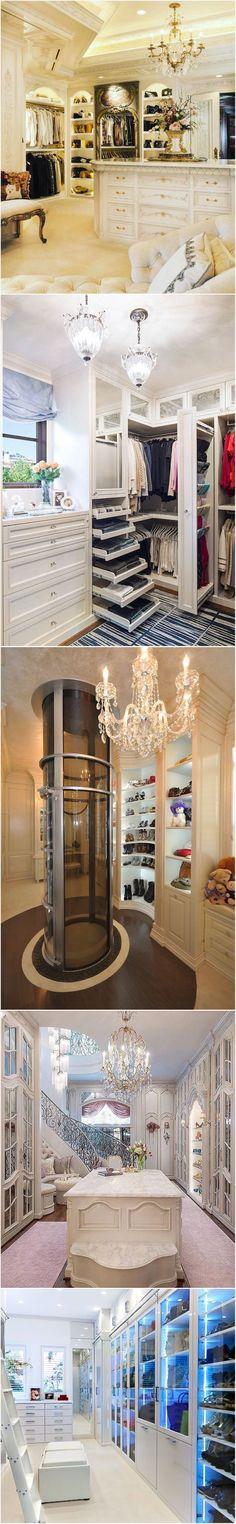 Stunning Glamorous Closets and master closet design ideas