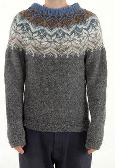natural Handmade Iceland sweater natural latvian by TASSSHA Fair Isle Knitting Patterns, Fair Isle Pattern, Knitting Stitches, Knitting Designs, Knitting Yarn, Hand Knitting, Crochet Patterns, Nordic Pullover, Nordic Sweater