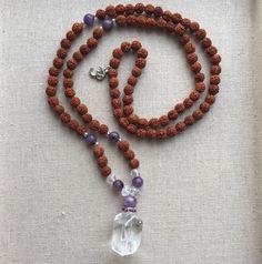 Divine Clarity Mala by RealezaImage on Etsy Love And Light, Clarity, Meditation, Beaded Necklace, Jewels, Handmade, Etsy, Beautiful, Beaded Collar