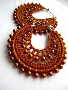 22 Ideas Crochet For Beginners Knit Crochet Earrings Pattern, Bead Crochet, Crochet Necklace, Crochet Patterns, Beaded Necklace, Beaded Bracelets, Beginner Crochet Tutorial, Knitting For Beginners, Crochet Baby Shoes