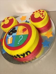 "My ""oh Toodles!"" cake Check us out on fb Baseball Birthday Party, Mickey Mouse Clubhouse Birthday, Mickey Party, Mickey Mouse Birthday, Minnie Mouse, Second Birthday Ideas, Birthday Themes For Boys, 1st Boy Birthday, First Birthday Parties"