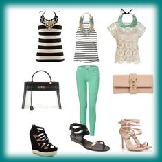 #mint green pants, 3 different styles, hermes bag, collar
