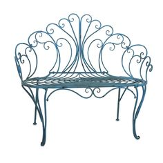 Woodland Imports Lillian Metal Garden Bench