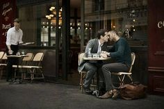 12. At 42, Steven meets Brian, a scruffy artist at a coffee shop. Steven ordered an iced cold-brew coffee and Brian a skinny vanilla latte non-fat – at the same time. It was love at first sight. Steven asks Brian out, and they set a date for that Friday night. On the big night, Steven picks up Brian in his Mercedes, and they go to a fancy French bistro. Brian kisses Steven in the front seat of the car, much like Steven's first exploration of sexuality years ago.
