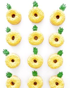 pineapple donuts cool retro kitsch ways to decorate your food in summer for party fun                                                                                                                                                      More