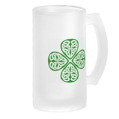 Celtic Knot Shamrock Mugs