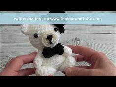 Crochet Bow Tie For Mini Wedding Bears Crochet Bow Ties, Sharon Ojala, Amigurumi Tutorial, Crochet Videos, Crochet Animals, Diy And Crafts, Crochet Patterns, Kitty, Learning