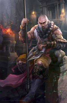 Diablo fanart - Monk by derrickSong.deviantart.com on @deviantART