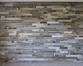 Reclaimed Wood Wall Paneling DIY assorted 3-inch boards. Barn wood boards with choice of colors.  Price per Square Foot.