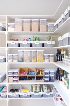 Fully stocked pantry #thehomeedit