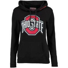 Ohio State Buckeyes Women s Black Primary Logo Print Fleece Hoodie Ohio  State Shirts e292b80815