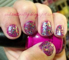 Nails Actually: Rainbow Honey's 20 Percent Cooler over Sinful Colors Dream On