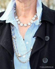 e363c9bbd50a8 68 Top Look to try - Layered necklaces images