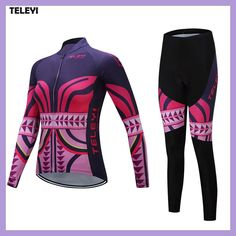 TELEYI Team Pro Women s Long Sleeve Ropa Ciclismo Cycling Jersey Sets  Breathable 3D Padded Bib Pants 8a4857c765c