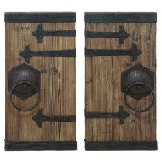 Found it at Wayfair - Aged Wood 2 Piece Wall Décor Set. Small doors two ft high. 76.00 + free shipping