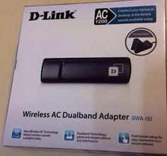 D-Link Wireless USB AC 1200 WIFI dongle dual band Adapter DWA-182 | eBay