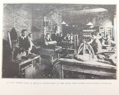 A vintage black-and-white photograph showing the South West London Polytechnic Institute around the year 1900 The photograph is undated The picture