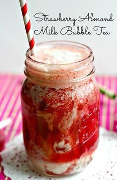 Strawberry Almond Milk Bubble Tea | 23 Bodacious Bubble Tea Recipes You Need To Try This Summer