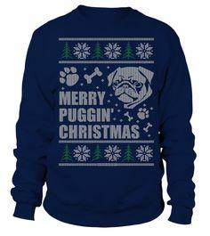 pug christmas  Funny Dog T-shirt, Best Dog T-shirt
