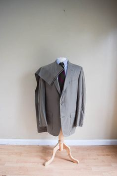 Men's Suit Brooks Brothers Green Poplin Wash N Wear Trad Suit 40L