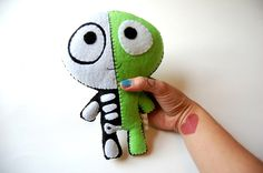 The Half Plush / Eco Friendly Plush Toy by vivikas on Etsy, $30.00