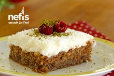 Cyprus Dessert (with video) Recipe, Cookie Recipes Cookie Recipes, Dessert Recipes, Good Food, Yummy Food, Delicious Recipes, Food Articles, Mini Cheesecakes, Turkish Recipes, Popular Recipes