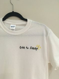 Ode to Sleep Embroidered T-Shirt